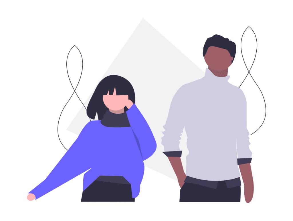 男と女のカップル